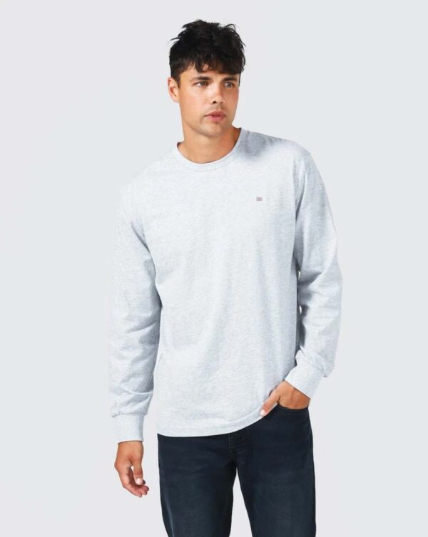 Browse - ORTC Flag Long Sleeve T Shirt Marle Grey