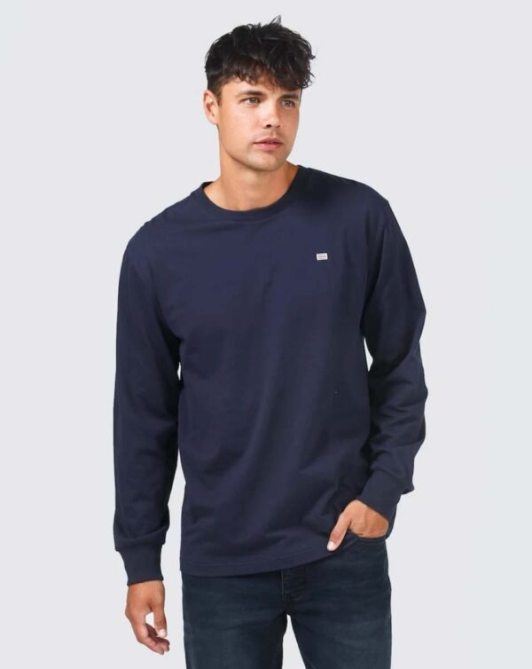 Browse - ORTC Flag Long Sleeve T Shirt Navy