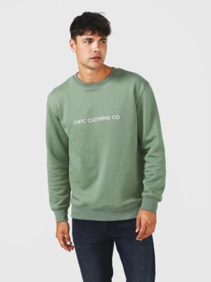 Browse - ORTC Fleece Logo Crew Green